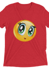 Cute Manga Girl Emoji T Shirt - Funny Smiley Face Emoticon Short sleeve t-shirt