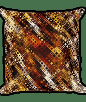 Decorative Disco Lights Ornament Square Pillow