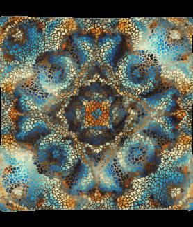 Decorative Mosaic Mandala Square Pillow Case only