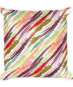Elegant Diagonal Geometric Stripes Square Pillow