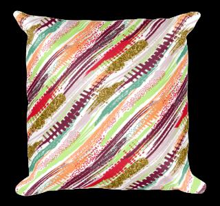 Elegant Diagonal Geometric Stripes Square Pillow