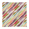 Elegant Diagonal Geometric Stripes Square Pillow Case only