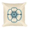 Flower on Oatmeal Background Square Pillow