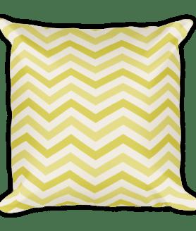 Geometric Chevron Waves Square Pillow