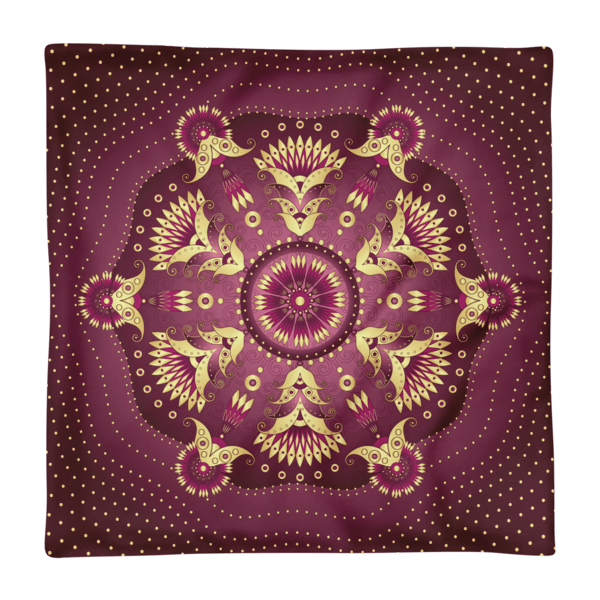 Gold-Purple Pea Flowers Square Pillow Case only
