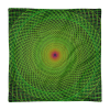 Green Spiral Rabbit Hole Square Pillow Case only