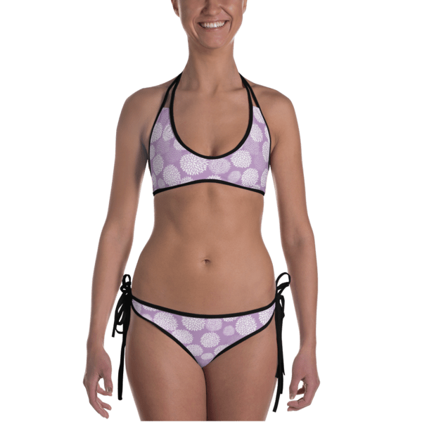 bc2ae5e69b2 Ladies' Fun Wear Hot Two Pieces Clear Sexy White Rose Petals Print On Top  And