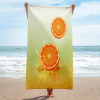 orange drop on juice splash towel