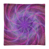 Purple Psychedelic Spiral Web Square Pillow Case only