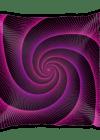 Purple String Spiral Rabbit Hole Square Pillow