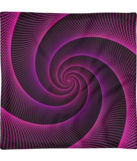 Purple String Spiral Rabbit Hole Square Pillow Case only