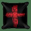 Red Skulls Cross Square Pillow