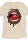 Red Strawberry in Chocolate Lips Women's Short sleeve t-shirt