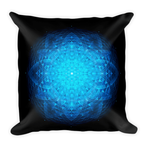 Sacred Geometry, Flower Of Life Square Pillow