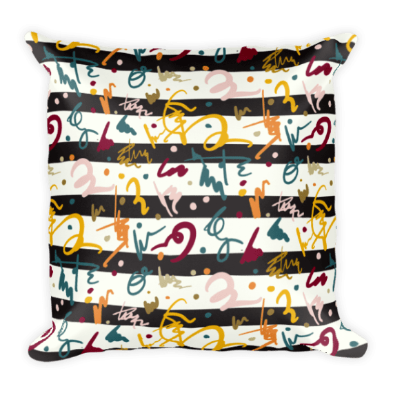 Spice And Herbs Stripes Square Pillow