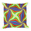 Spinning Colors Print Square Pillow