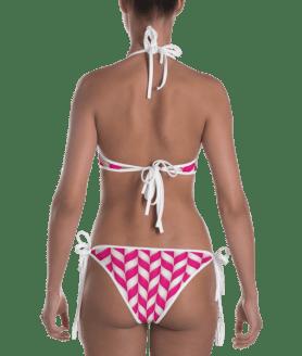 Strawberry Swirly Lollipops Candy Reversible Bikini - Ladies' Beachwear Bathing Suit