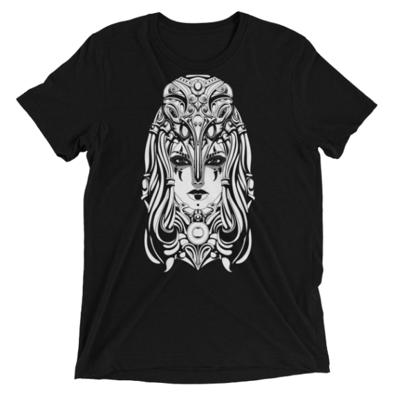 Strong Shaman Woman with a Mask Short sleeve Ladies' t-shirt
