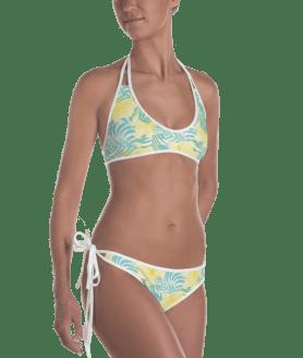 Summer Tropical Beach Style Reversible Bikini - Ladies' Beachwear Bathing Suit