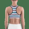 Colorful USA Stripes Sports Bra