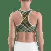 Hot Striped Pattern Gym Workout Sports Bra