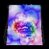 Brilliant Colorful Brain Drawstring bag