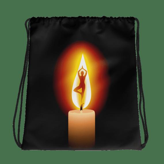 Candle Fire Yoga Dance Drawstring bag - Gymnastic Bag, Dance Bag, Girls Gym Bag, Girls Dance Bag, Sports backpack