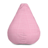 Classic Light Pink and Lines Bean Bag Chair With Filling