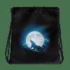 Halloween Horror Wolf Drawstring bag