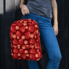 Hot Summer Red Strawberry Fruit and Flowers Backpack