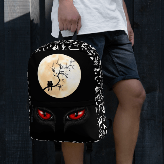 Red Cat's Eyes With Birds and Moon Backpack