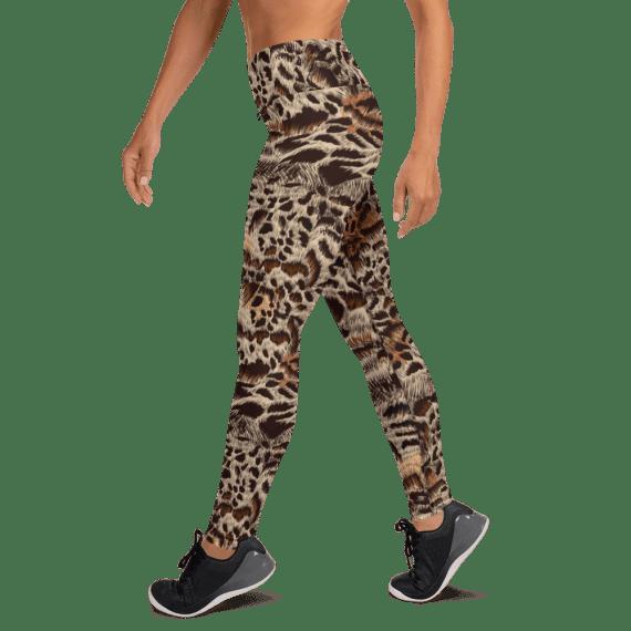 Amazing High Waisted Realistic Leopard Fur Yoga Leggings - Leopard Women Leggings, Animal Print Leggings, Printed Tights, Essentials Leopard Tights, Club Leggings, Pole Dance Clothing, The Best Animal Skin Print Leggings