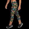 Autumn leaves Thanksgiving Capri Leggings  - Fall Premium Ultra Soft Running Jogger Tight Pants