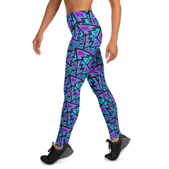 Psy Leggings, Rave Leggings, Psychedelic Clothing, Rave Clothing, Rave Outfit, Festival Leggings, Festival Wear, Rave Wear Yoga Leggings/ Premium Ultra Soft High Waist Fashion Leggings - Women's High Rise Tights / Yoga Pants with Pockets