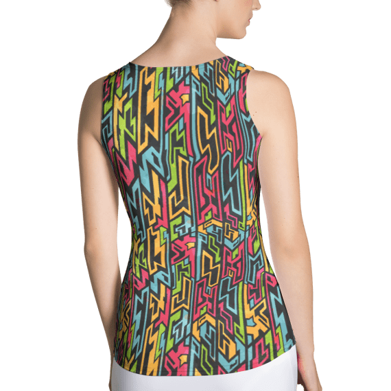 Best Bright Nova Colorful Workout Tank Top, Vibrant Fashion Colored Tank Top