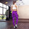 The Best Stylish High-Waisted Ultra Soft Popular Purple Flowers Yoga Leggings