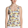 Vibrant Stripes and Flowers Fashion Tank Top - Super Nova Tops