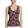 Women's Basic Casual Hot Pink Roses Floral Print Tank Tops