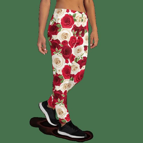 Women's Beautiful Flowers Pattern Print Joggers