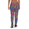 Women's Colorful Bright Flowers & Birds Gym Workout Jogger Pants with Pockets