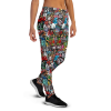 Women's Colorful Street Wall Art Love Joggers with Pockets, (XS-3XL) Relaxed Fit