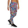 Women's Great Colorful Abstract Decorative Gym Workout Jogger Pants with Pockets