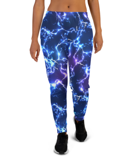 Women's Sexy Premium Electric Thunder Lightnings Gym Jogger Pants with Pockets
