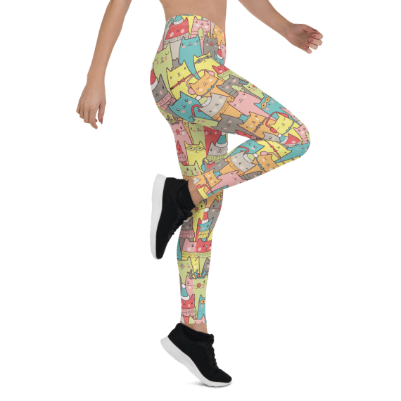 Best Funny Cats and Kittens Leggings - Cool Cats Gym Workout Yoga Leggings