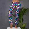 Cute Colorful Cats Leggings - Sexy Pussy Cat Leggings Pussy Kitty Cat Leggings