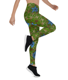 Green Hawaiian Garden Leggings, Truly Gorgeous Leggings, New Superior Yoga Pants
