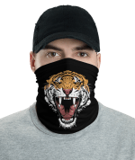 New Aggressive Tiger Face Face Mask, Bandanna, Scarf, Neck Gaiter, Headwear, Headband Hair Cover, Mouth Cover, Nose Cover, Scarves
