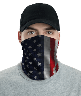 New American Flag, United States Flag Face Mask, Neck Gaiter, Headwear , Bandana