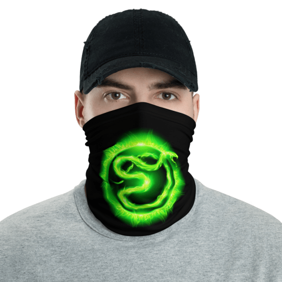 New Blazing Vicious Snake Protective Face Mask, Bandanna, Scarf, Neck Gaiter, Headwear, Headband Hair Cover, Mouth Cover, Nose Cover, Scarves