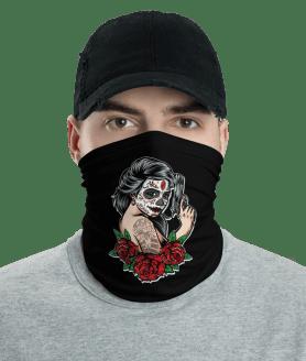 New Protective Catrina Gangster Face Mask, Neck Gaiter, Headwear , Scarf-Bandana